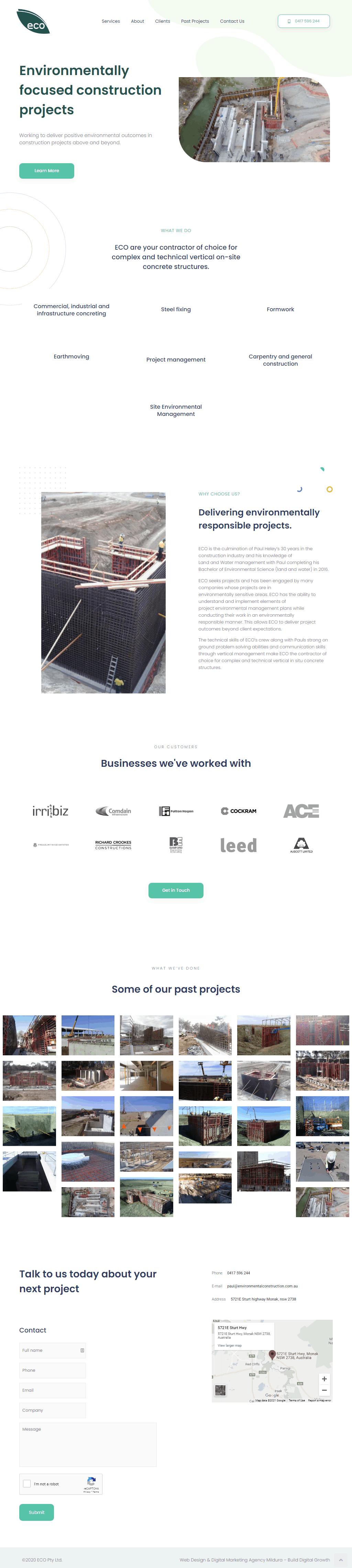 ECO Construction Web Design