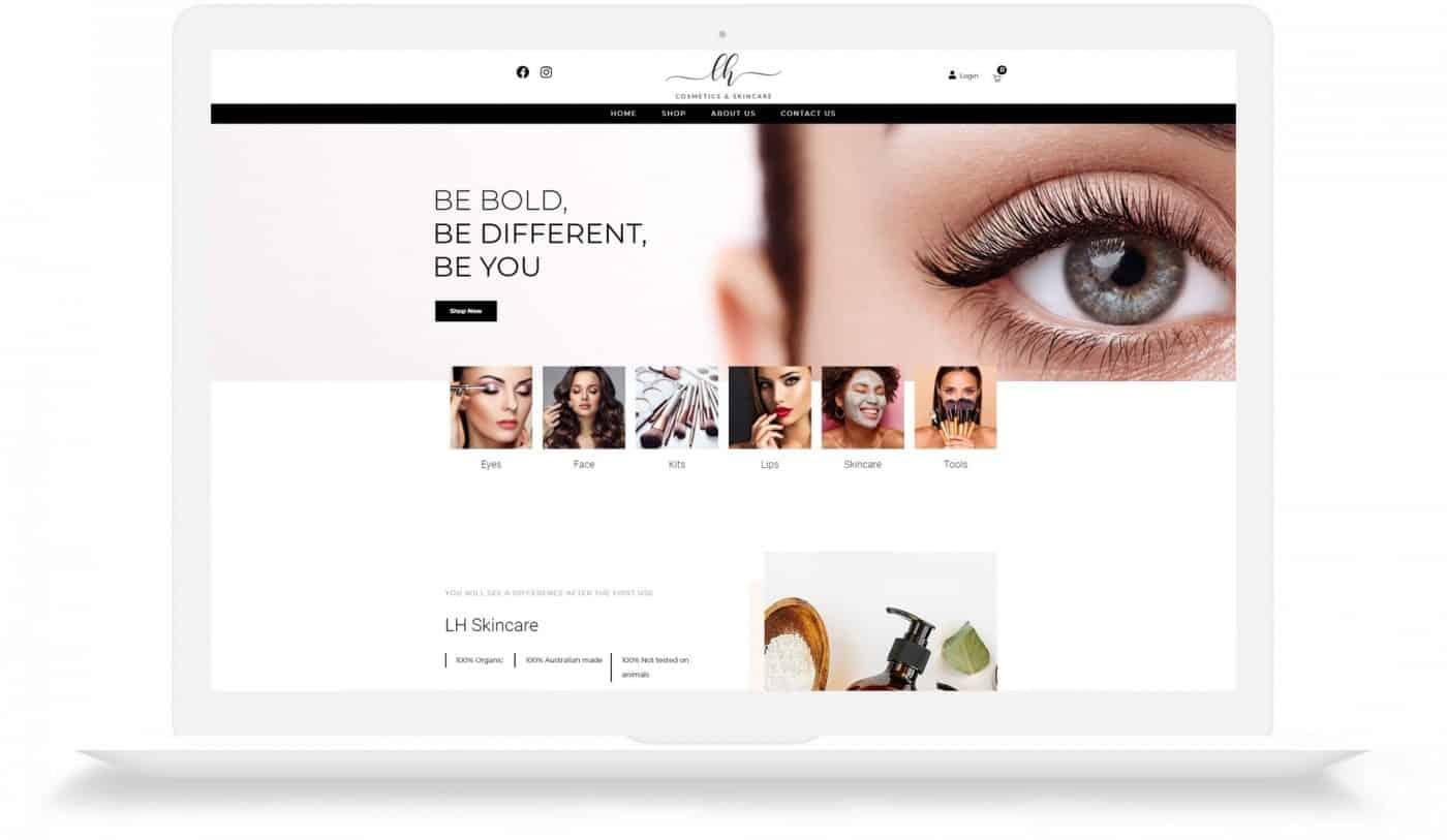 LH Cosmetics Web Design